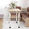 Кухонный стол КС-9 на хромированных ножках ДСП / КОМПАНИТ