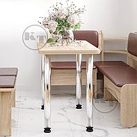 Кухонный стол КС-9 на хромированных ножках ДСП / КОМПАНИТ, фото 1