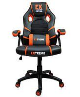 Кресло компьютерное Стул игровой Геймерське крісло компютерне Крісло спортивне і подушка Extreme EX ОРАНЖЕВЕ