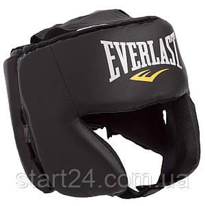Шолом боксерський в мексиканському стилі PU EVERLAST 4022 (р-р L універсальний, чорний)