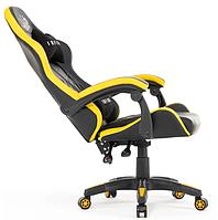 Крісло ігрове Infini Five ЖОВТЕ Стул геймерский Компютерне крісло + ПОДУШКИ Спортивне крісло Игровое кресло