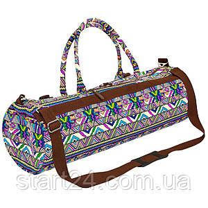 Сумка для йога коврика Yoga bag KINDFOLK FI-6969-2 (размер 20смх65см, полиэстер, хлопок,