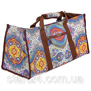 Сумка для фитнеса и йоги Yoga bag DoYourYoga FI-6971-1 (размер 22х24х54см, полиэстер, хлопок, серый-оранжевый)