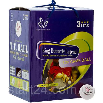 Набор мячей для настольного тенниса 100 штук в цветной картонной коробке BUT MT-8396 3star (d-40мм, цвета в, фото 2