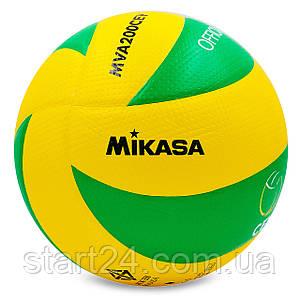Мяч волейбольный Клееный PU MIKASA MVA-200CEV (PU, №5, 5 сл., клееный)
