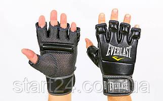 Перчатки для смешанных единоборств MMA PU EVERLAST 4402B (р-р L, черный)