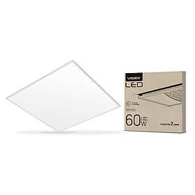 LED панель матовая VIDEX 60*60 60W 6000K 6600Lm 2шт белая рамка VL-Pb606W(2) (светодиодный светильник)