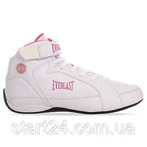 Боксерки женские EVERLAST JUMP ELW65C размер 37,5-40,5 US-7-9,5 белый-розовый