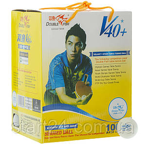 Набор мячей для настольного тенниса 100 штук в цветной картонной коробке DOUBLE FISH 510280 1star (d-40мм,