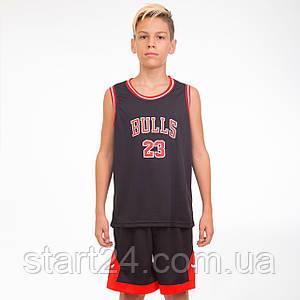 Форма баскетбольная подростковая NB-Sport NBA BULLS 23 5351 (р-р M-2XL-130-165см, цвета в ассортименте)
