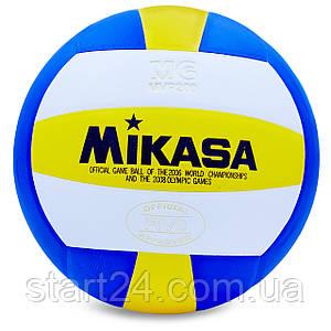 Мяч волейбольный Клееный PU MIK VB-0030 MVP-200 (PU, №5, 5 сл., клееный)