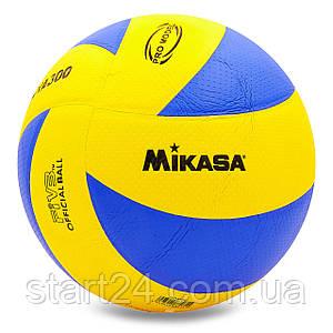 Мяч волейбольный Клееный PU MIK VB-1844 MVA-300 (PU, №5, 5 сл., клееный)