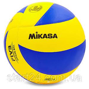 Мяч волейбольный Клееный PU MIK VB-1846 MVA-330 (PU, №5, 5 сл., клееный)