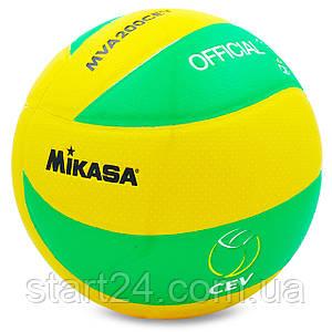 Мяч волейбольный Клееный PU MIK VB-5940-J MVA-200CEV (PU, №5, 3 слоя)