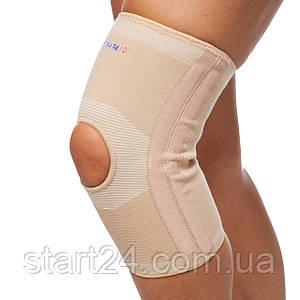 Наколенник со спиральными ребрами жесткости и открытой колен. чашечкой (1шт) PARAID 601112 (р-р S-L, бежевый)