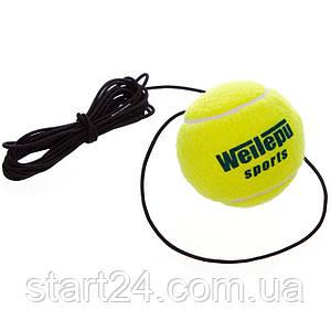 Теннисный мяч на резинке боксерский Fight Ball Wielepu 626 (пневмотренажер, салатовый) (1шт)