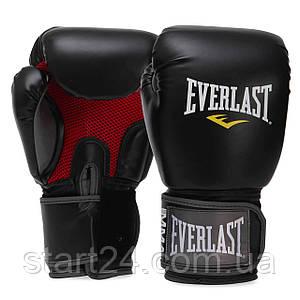Перчатки боксерские PU на липучке EVERLAST 7012 PRO STYLE MUAY THAI (р-р 8-16oz, черный)