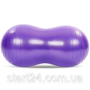 Мяч для фитнеса Арахис (фитбол) сатин 50смх100см FI-7136 (PVC,l-100см,1200г, цвета в ассортименте,