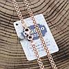 Серебряная цепочка позолоченная Бисмарк классический ширина 3 мм  длина 45, фото 2