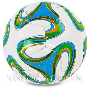М'яч футбольний №2 Сувенірний Зшитий машинним способом FB-0043-14 (№2, PVC матовий)
