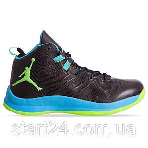 Кроссовки баскетбольные Jordan W8509-3 размер 41-45 черный-бирюза-салатовый