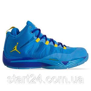 Кроссовки баскетбольные Jordan OB-6412-1 размер 41-46 синий-желтый