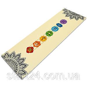 Килимок для йоги Джутовий (Yoga mat) двошаровий 3мм Record FI-7157-1 (розмір 1,83мх0,61мх3мм, джут, каучук,