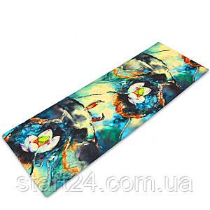 Килимок для йоги Джутовий (Yoga mat) двошаровий 3мм Record FI-7157-3 (розмір 1,83мх0,61мх3мм, джут, каучук,