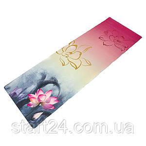 Килимок для йоги Джутовий (Yoga mat) двошаровий 3мм Record FI-7157-4 (розмір 1,83мх0,61мх3мм, джут, каучук,