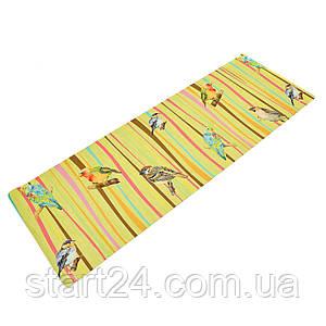 Коврик для йоги Джутовый (Yoga mat) двухслойный 3мм Record FI-7157-5 (размер 1,83мx0,61мx3мм, джут, каучук,