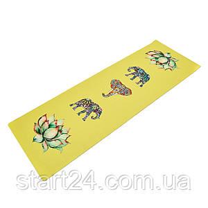 Килимок для йоги Джутовий (Yoga mat) двошаровий 3мм Record FI-7157-6 (розмір 1,83мх0,61мх3мм, джут, каучук,