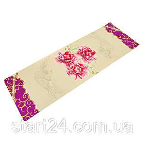 Килимок для йоги Джутовий (Yoga mat) двошаровий 3мм Record FI-7157-7 (розмір 1,83мх0,61мх3мм, джут, каучук,