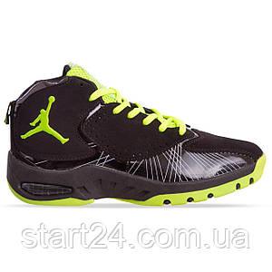 Кроссовки баскетбольные Jordan OB-935-3 размер 41-45 черный-салатовый