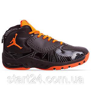 Кроссовки баскетбольные Jordan OB-935-4 размер 41-45 черный-оранжевый