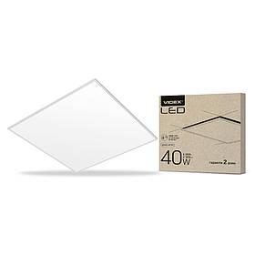 LED панель антибликовая VIDEX 60*60 40W 6200K 3600Lm белая рамка VL-PU406W (светодиодный светильник)