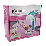 Епілятор лазерний фотоепілятор Kemei KM 6813 домашній для всього тіла, фото 9