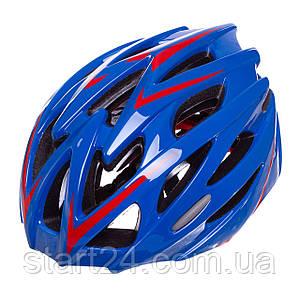 Велошлем кросс-кантри с механизмом регулировки YF-16 (EPS,пластик, PVC,р-р L-58-61,цвета в ассртименте)