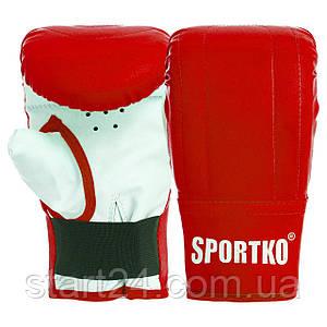 Снарядные перчатки Кожвинил SPORTKO UR PD-3 (р-р S-XL, цвета в ассортименте)