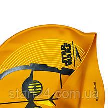 Шапочка для плавання SPEEDO SLOGAN PRINT 808385C797 Star Wars C3PO (силікон, помаранчевий, чорний), фото 2