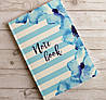 Блокнот В5, интегральная обложка Axent голубые цветы, фото 2