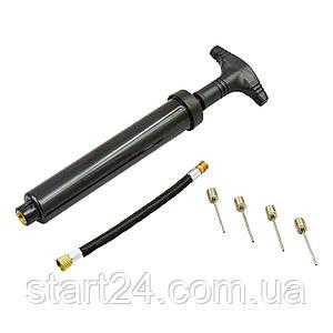 Насос ручний для м'ячів двосторонній CNVOY SPORT YS38081 (пластик, l-21см)