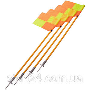 Флаги угловые YT-6000 (металл, пластик, l-1,6м, в комплекте 4шт)