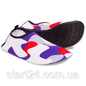 Обувь Skin Shoes для спорта и йоги Камуфляж PL-0418-BKR размер S-3XL-34-45 длина стопы 20-29см