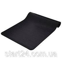 Коврик для йоги PU 6мм Record FI-8308-1 (размер 1,83мx0,68мx6мм, черный), фото 2
