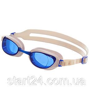 Очки для плавания SPEEDO AQUAPURE 8090027960 (поликарбонат, термопластичная резина, силикон, белый-голубой)