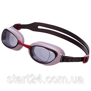 Очки для плавания SPEEDO AQUAPURE 8090028912 (поликарбонат, термопластичная резина, силикон, красный-серый)