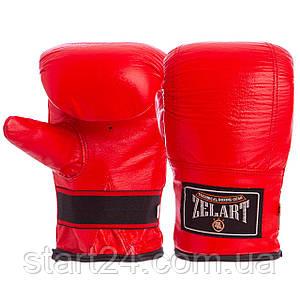 Снарядные перчатки Кожа Zelart ZB-4005 (р-р M-XL, цвета в ассортименте)