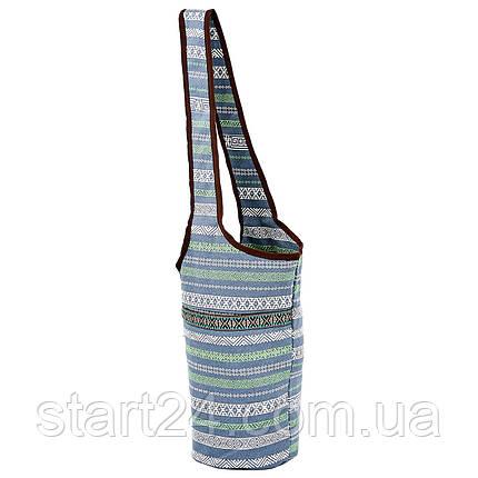 Сумка для фитнеса и йоги через плечо Yoga bag KINDFOLK FI-8364-3 (размер 33смх84см, полиэстер, хлопок,, фото 2