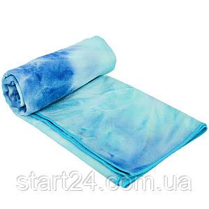 Йога полотенце (коврик для йоги) KINDFOLK FI-8370 (размер 1,83мx0,61м, микрофибра, цвета в ассортименте)