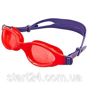 Очки для плавания детские SPEEDO FUTURA PLUS JUNIOR 809010B860 (поликарбонат, термопластичная резина, силикон,